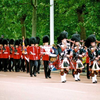 Guards on parade, London