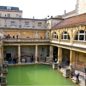 Roman Baths main Pool in Bath UK
